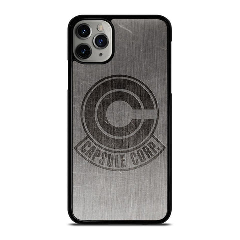 CAPSULE CORP METAL LOGO DRAGON BALL Z -iphone-11-pro-max-case-cover
