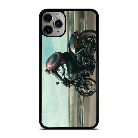 CAPTAIN AMERICA AVENGERS RIDING-iphone-11-pro-max-case-cover