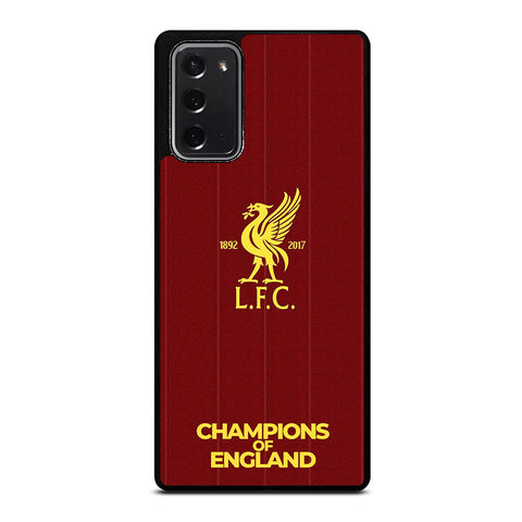CHAMPIONS OF ENGLAND LIVERPOOL FC Samsung Galaxy Note 20 Case Cover