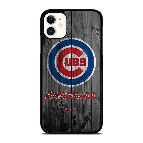 CHICAGO CUBS WOODEN LOGO-iphone-11-case-cover
