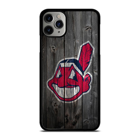 CLEVELAND INDIANS WOODEN LOGO-iphone-11-pro-max-case-cover
