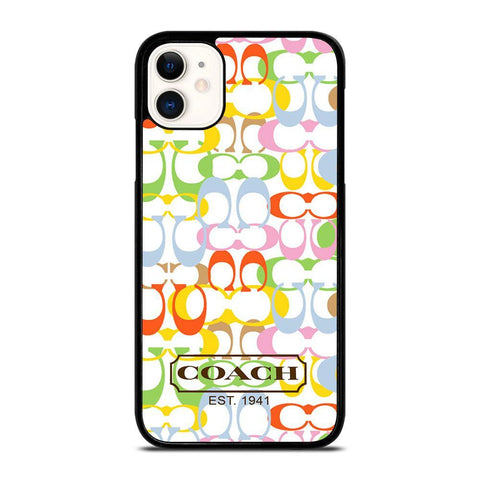 COACH NEW YORK COLORFUL-iphone-11-case-cover