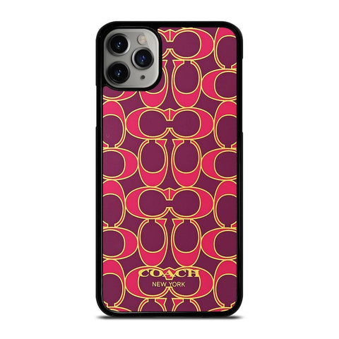 COACH NEW YORK PINK GOLD-iphone-11-pro-max-case-cover
