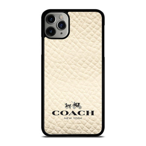COACH NEW YORK WHITE-iphone-11-pro-max-case-cover