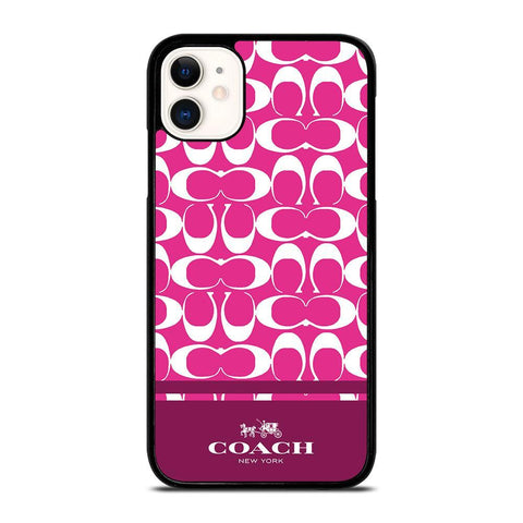 COACH PINK NEW YORK-iphone-11-case-cover