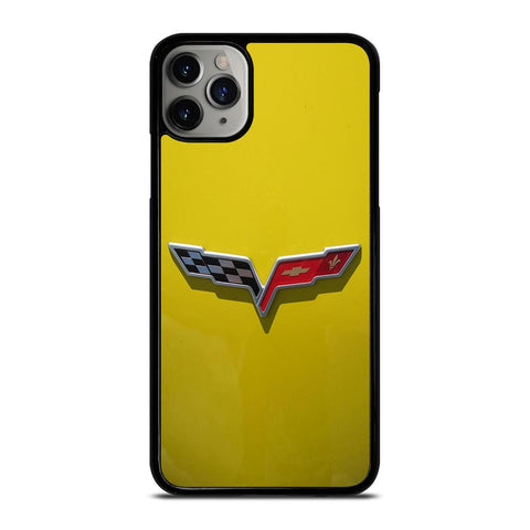 CORVETTE STINGRAY CHEVY YELLOW-iphone-11-pro-max-case-cover