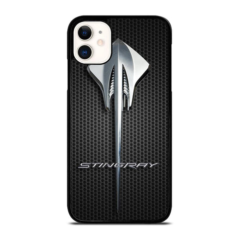 CORVETTE STINGRAY LOGO METAL-iphone-11-case-cover