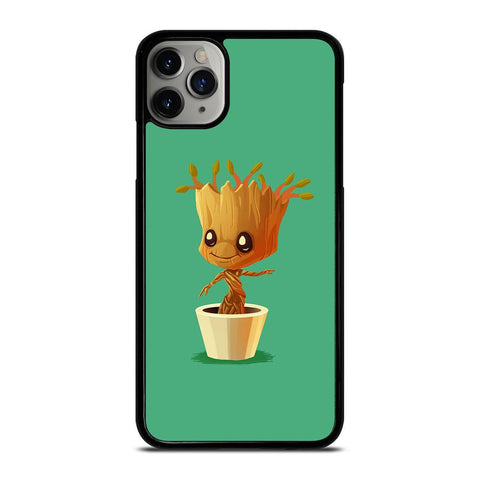 CUTE BABY GROOT IN THE POT-iphone-11-pro-max-case-cover