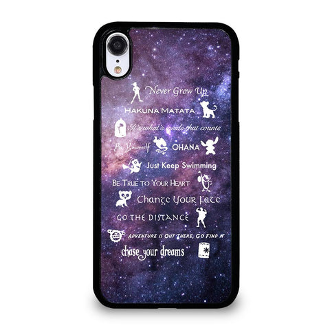 DISNEY LESSONS LEARNED MASH UP NEBULA iPhone XR Case Cover