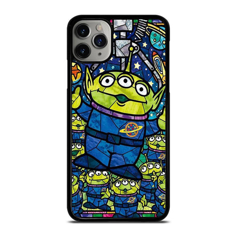 DISNEY TOY STORY ALIEN ART GLASS-iphone-11-pro-max-case-cover