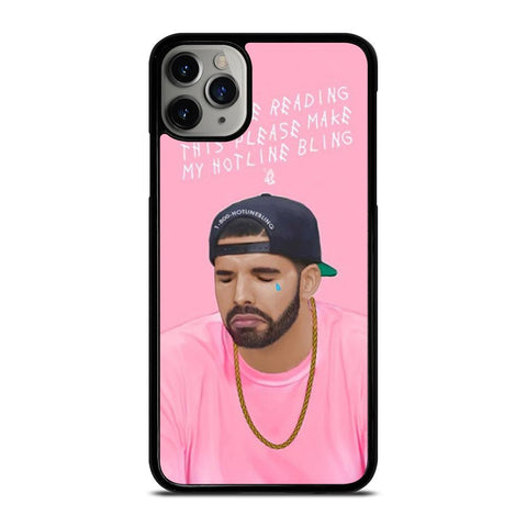 DRAKE PINK HOTLINE BLINK-iphone-11-pro-max-case-cover