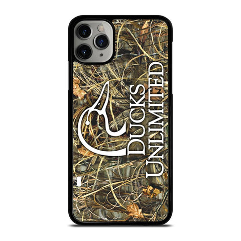 DUCKS UNLIMITED WETLANDS WATERFOWL CAMO-iphone-11-pro-max-case-cover
