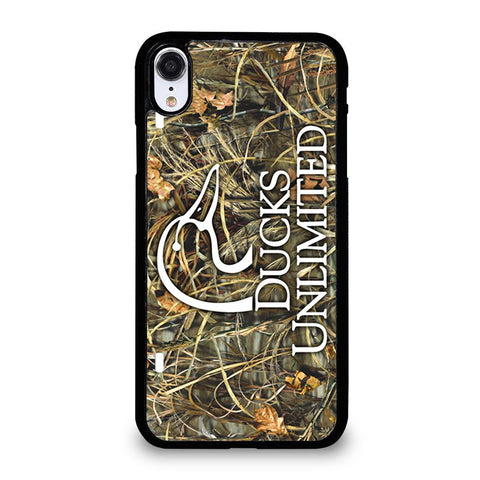 DUCKS UNLIMITED WETLANDS WATERFOWL CAMO iPhone XR Case Cover
