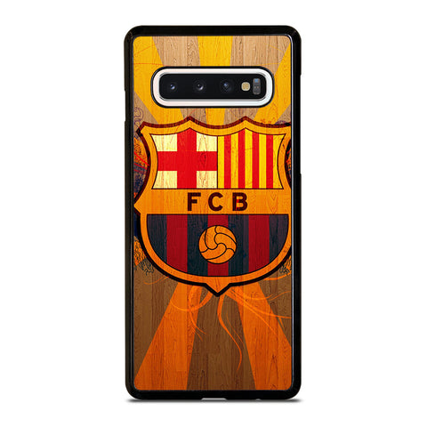 FC BARCELONA WOODEN ICON Samsung Galaxy S10 Case Cover