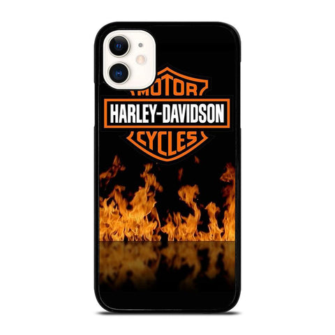 HARLEY DAVIDSON FIRE LOGO-iphone-11-case-cover