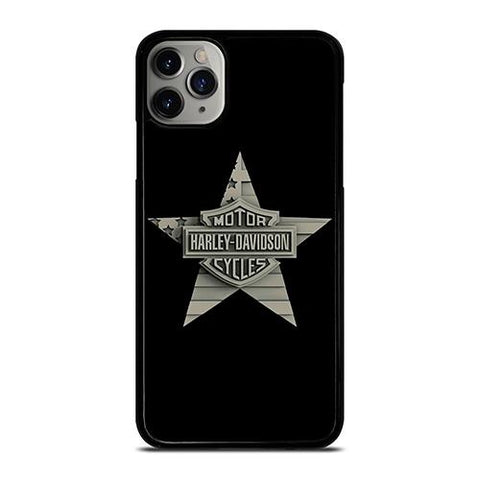 HARLEY DAVIDSON WOODEN STAR LOGO iPhone 11 Pro Max Case Cover