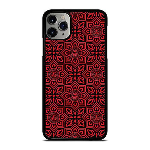 OBEY RED LOGO PATTERN iPhone 11 Pro Max Case Cover