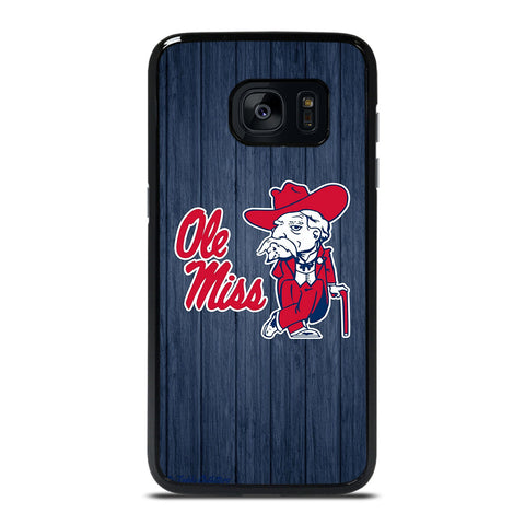 OLE MISS WOODEN LOGO Samsung Galaxy S7 Edge Case Cover