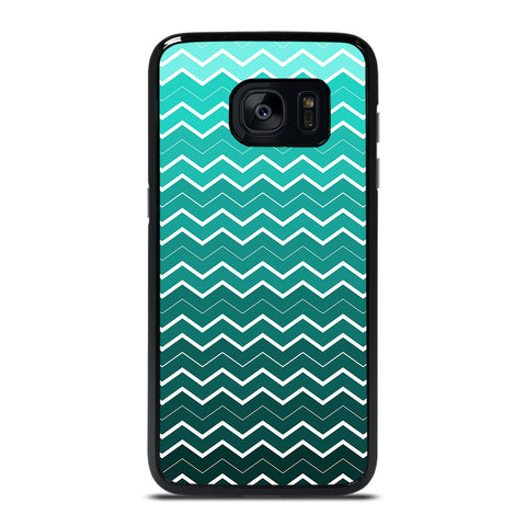 OMBRE TEAL CHEVRON Samsung Galaxy S7 Edge Case Cover