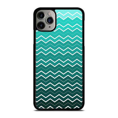 OMBRE TEAL CHEVRON-iphone-11-pro-max-case-cover