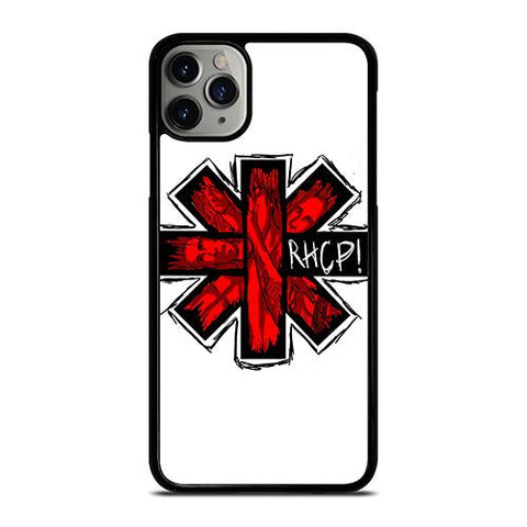 RED HOT CHILI PEPPERS LOGO WHITE iPhone 11 Pro Max Case Cover