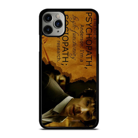 SHERLOCK HOLMES PSYCHOPATH-iphone-11-pro-max-case-cover