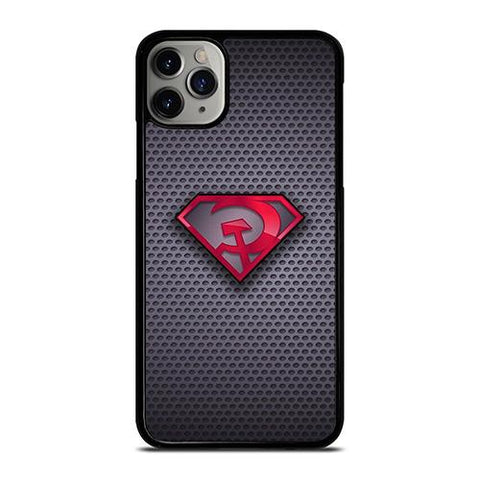 SUPERMAN RED SON LOGO CARBON iPhone 11 Pro Max Case Cover