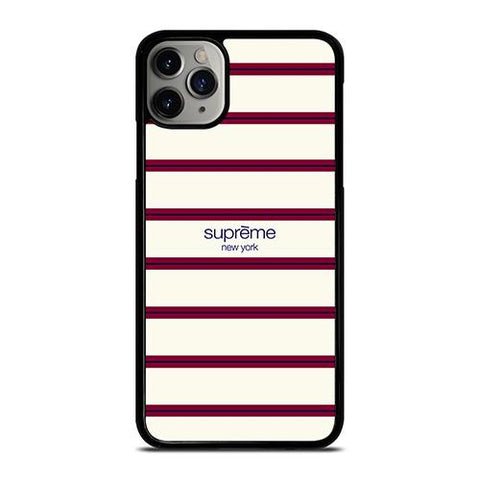 SUPREME NEW YORK RED STRIPE iPhone 11 Pro Max Case Cover