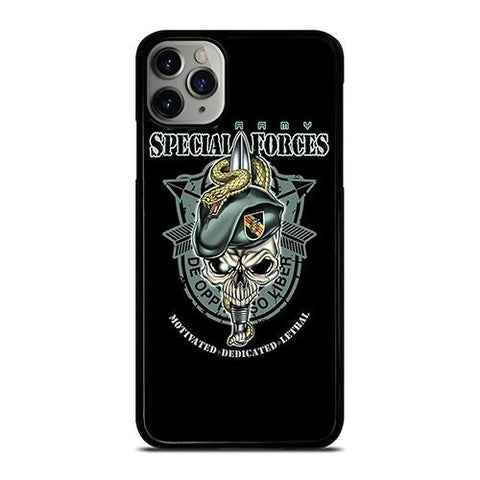 US ARMY SPECIAL FORCES LOGO SKULL iPhone 11 Pro Max Case Cover