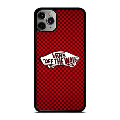 VANS OFF THE WALL SKATER RED CARBON iPhone 11 Pro Max Case Cover