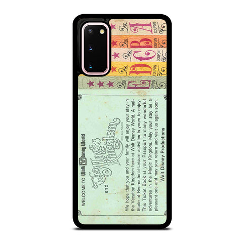 WORLD DISNEY TICKET BOOK Samsung Galaxy S20 Case Cover