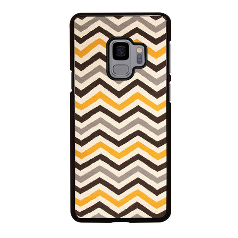 YELLOW BROWN CHEVRON PATTERN Samsung Galaxy S9 Case Cover