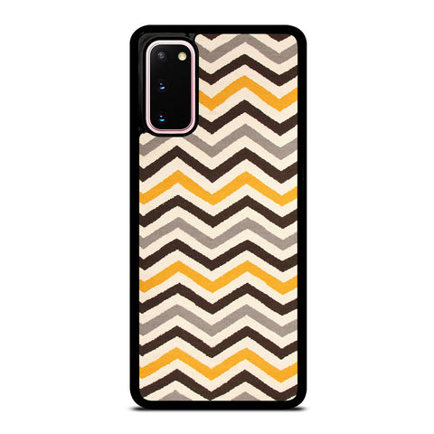 YELLOW BROWN CHEVRON PATTERN Samsung Galaxy S20 Case Cover