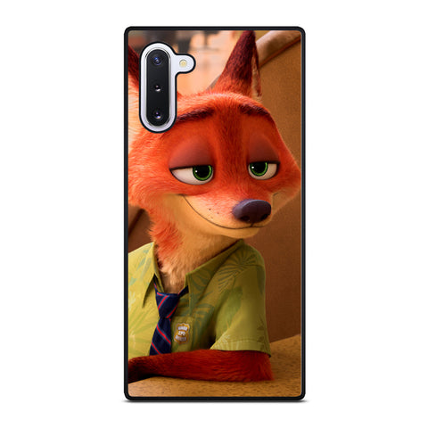 ZOOTOPIA NICK WILDE Disney Samsung Galaxy Note 10 Case Cover