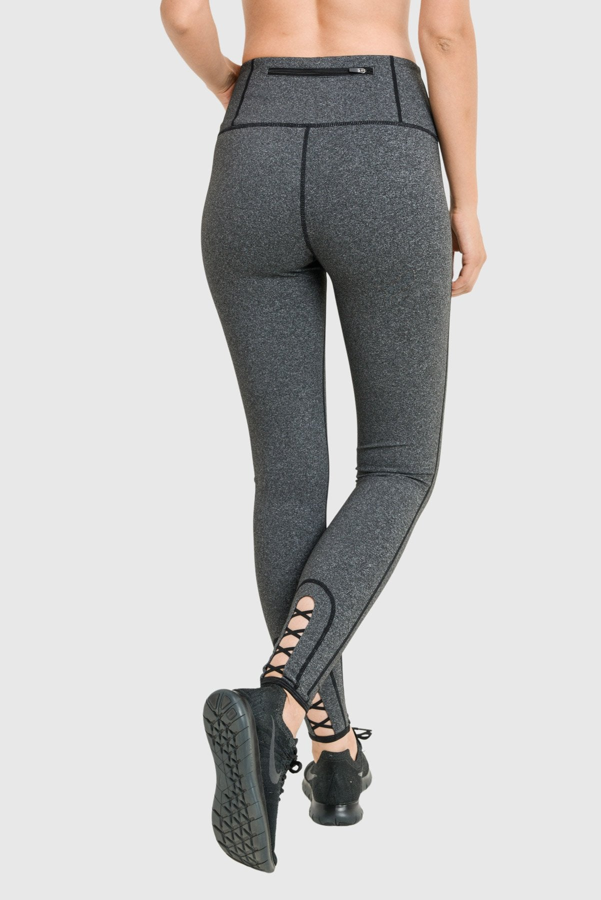 Strappy Melange Performance Leggings