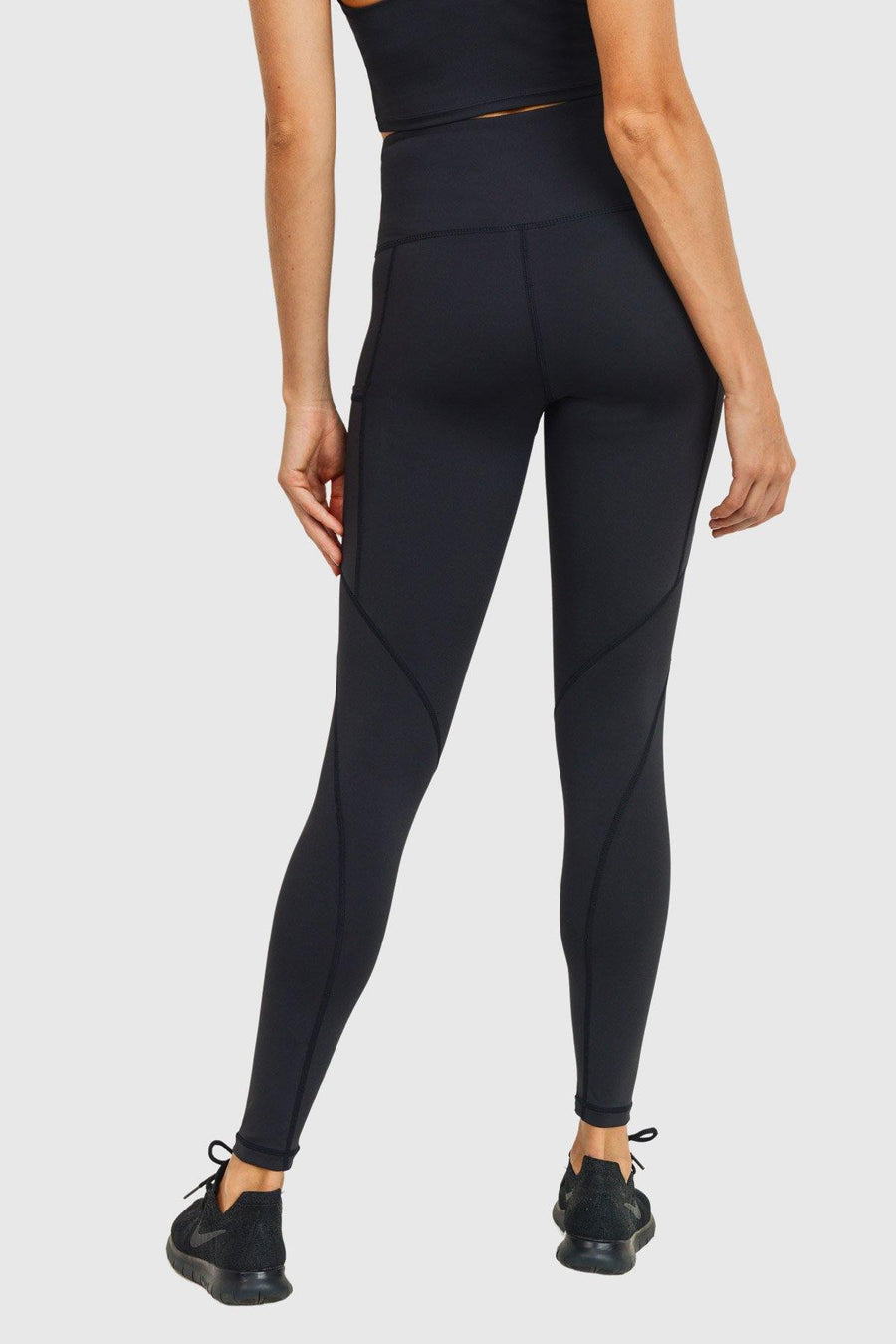 Solid & Slanted Panels Highwaist Leggings-Leggings-Mono B Athleisure-S-Plum Grey-Mono B Athleisure