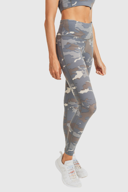 Blue Tundra Camo Highwaist Leggings-Leggings-Mono B Athleisure-S-Blue Tundra Camo-Mono B Athleisure