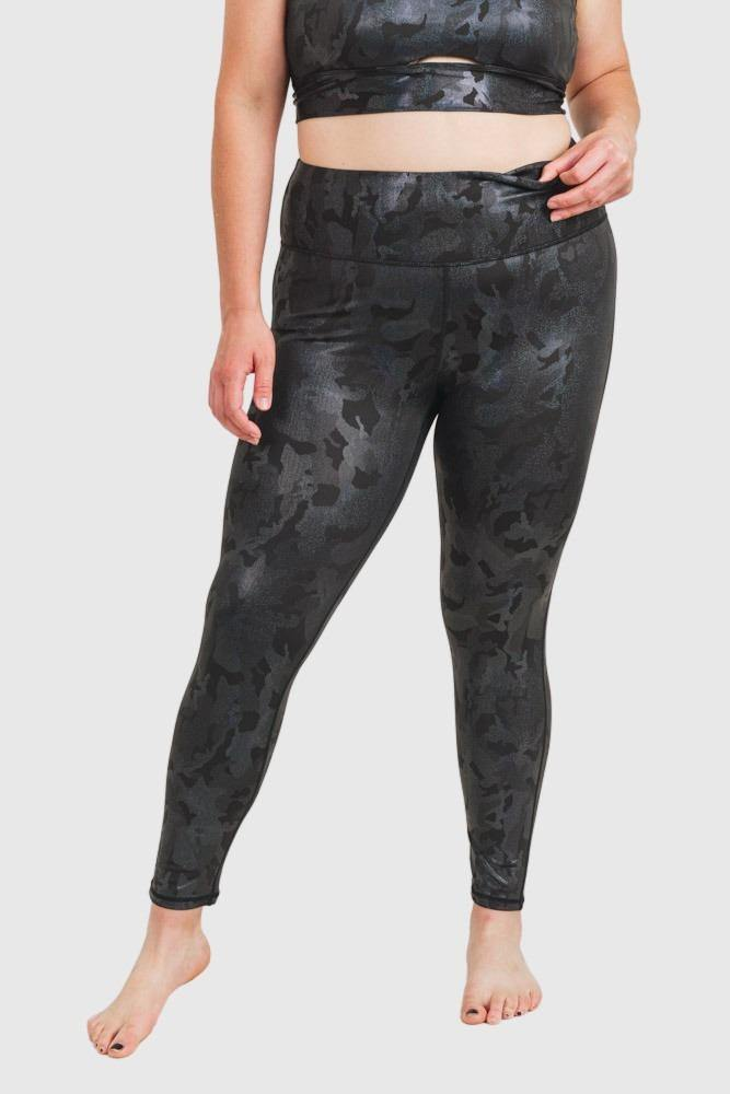 Camo Holographic Microdot Foil Highwaist Leggings - Mono B Athleisure