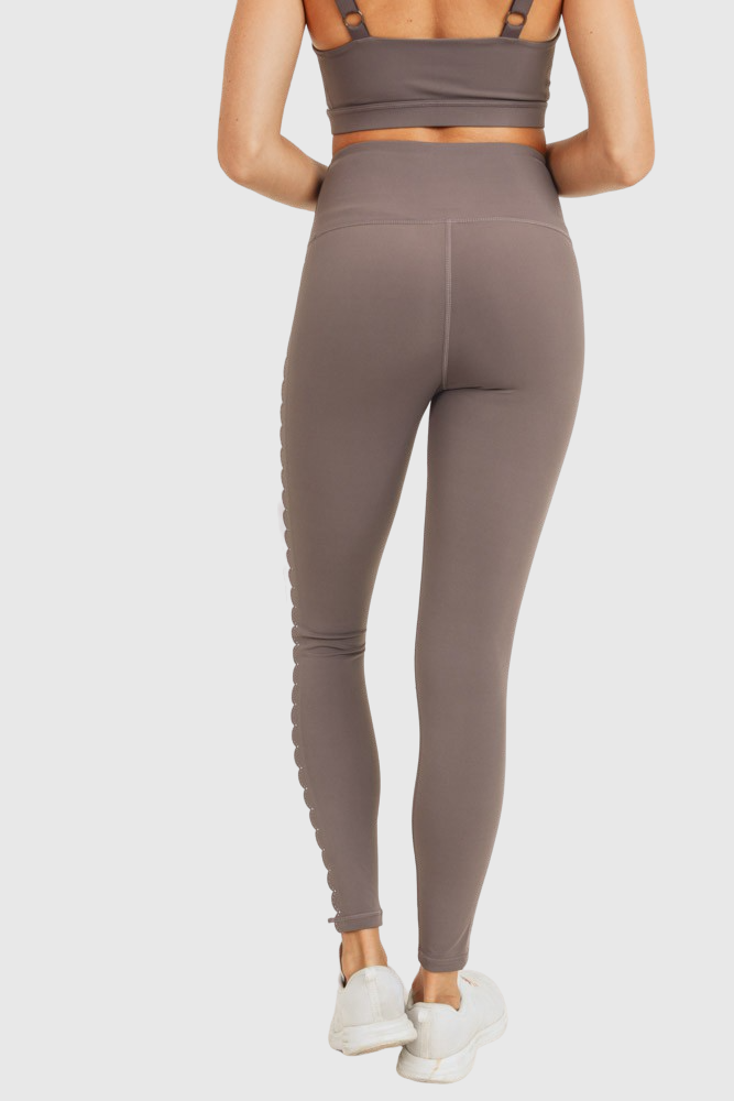 Art Deco Laser-Cut Highwaist Recycled Leggings - Mono B Athleisure