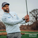 PGA Professional Chris Ryan wearing the GOLFBUDDY aim W11 while out on the golf course