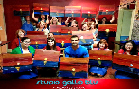 paint & wine classes in st charles, amateur painting BYOB class
