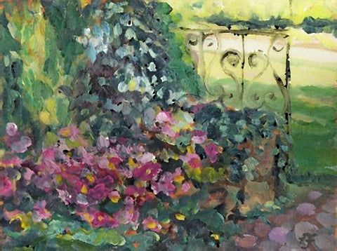Notecards-The Garden Gate, 100# card stock