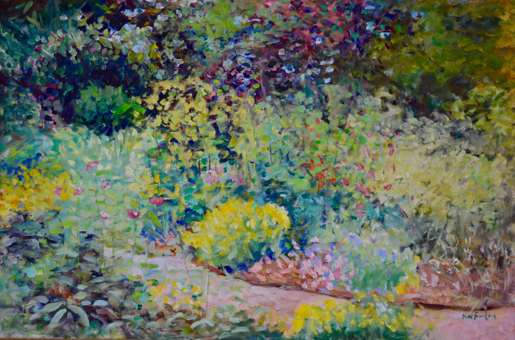 "Oil painting ""Summer Garden"" 24 x 36"