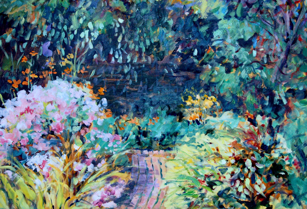 "Oil Painting ""The Garden Path"" 24 x 30"