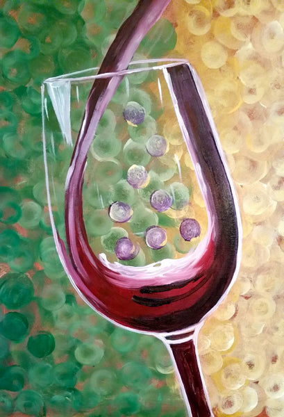 Wine Notecards boxed set of 6, one of each design 100# cover stock