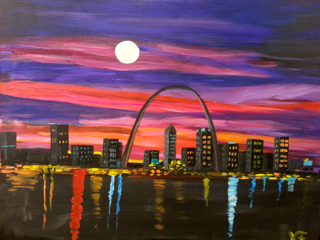 "Oct 9, Thurs, 7-9pm, ""St. Louis Sunset"" Public Class"