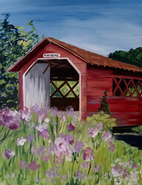 "Sept 19, Mon, 6-8pm  ""Vermont Covered Bridge"""