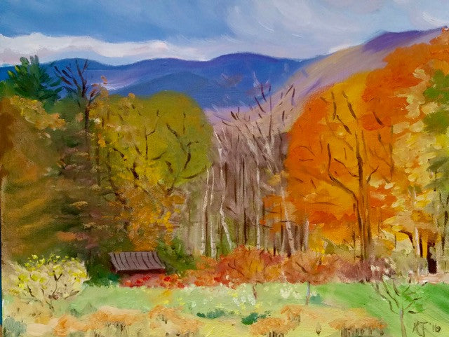 Notecard-Vermont Autumn, 100# cover stock FB