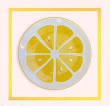 Load image into Gallery viewer, Lemon ceramic handmade dessert plate - 1 piece for a minimum order of 20 pieces - Pre order now