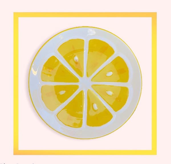 Lemon ceramic handmade dessert plate - 1 piece for a minimum order of 20 pieces - Pre order now